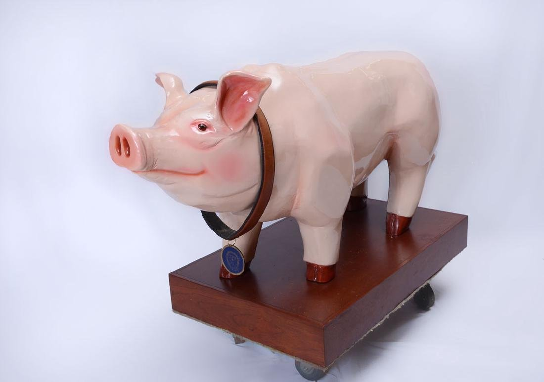 FAO SCHWARZ LIFE SIZE WILBUR PIGGY BANK