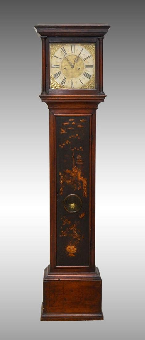 GEORGIAN CHINOSERIE DECORATED TALL CASE CLOCK