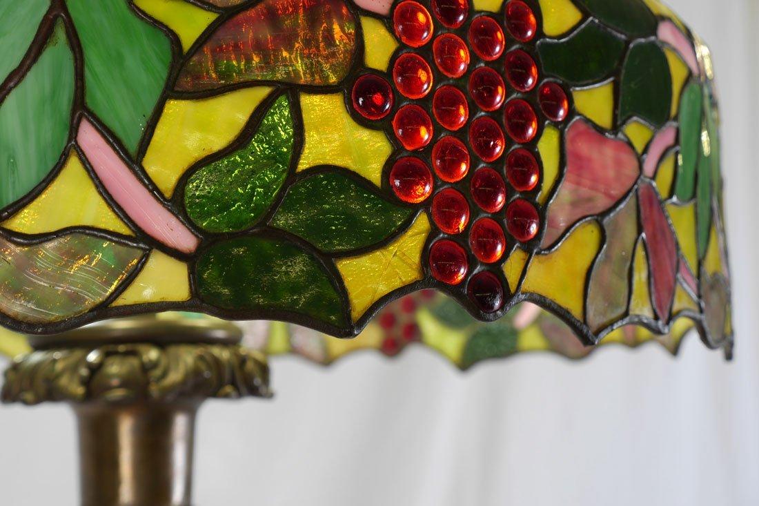 HANDEL QUALITY LEADED GLASS FLOOR LAMP - 3