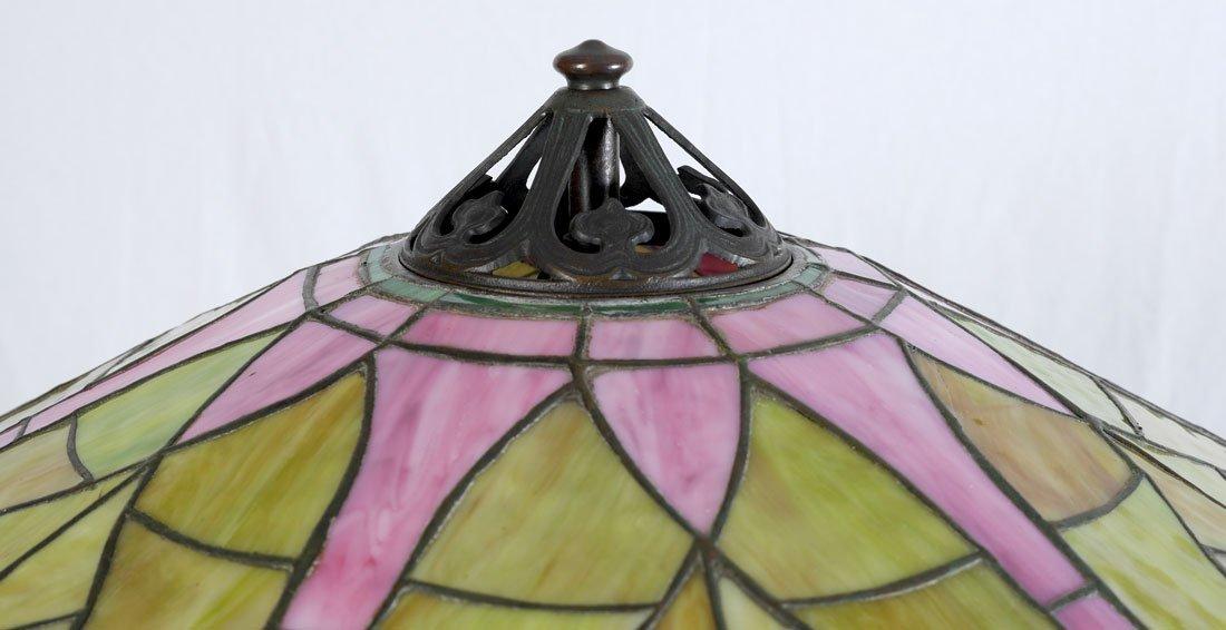 HANDEL QUALITY LEADED GLASS FLOOR LAMP - 6