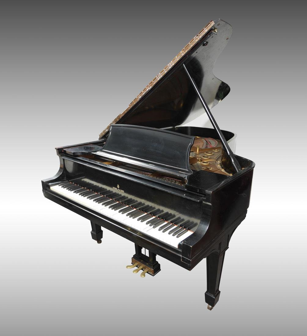 1930 STEINWAY EBONIZED MODEL B GRAND PIANO