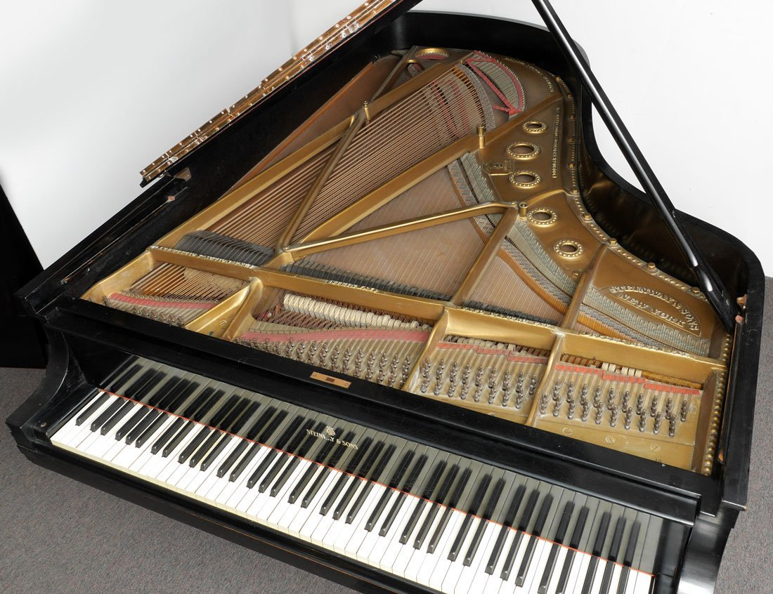 1930 STEINWAY EBONIZED MODEL B GRAND PIANO - 4