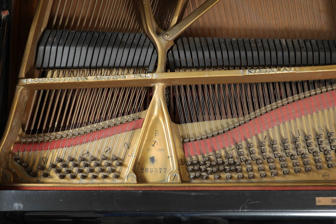 1930 STEINWAY EBONIZED MODEL B GRAND PIANO - 5