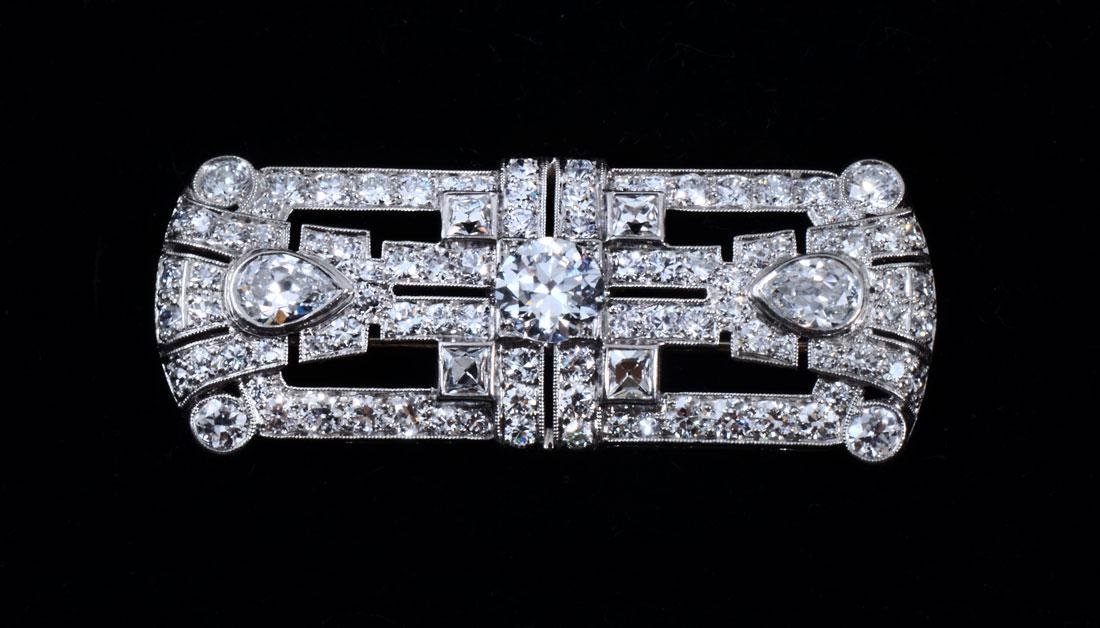 ART DECO PLATINUM & DIAMOND TIFFANY & CO BROOCH