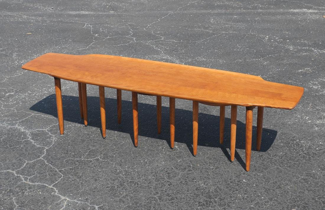 CONANT BALL SURFBOARD COFFEE TABLE AND 3 STOOLS - 2