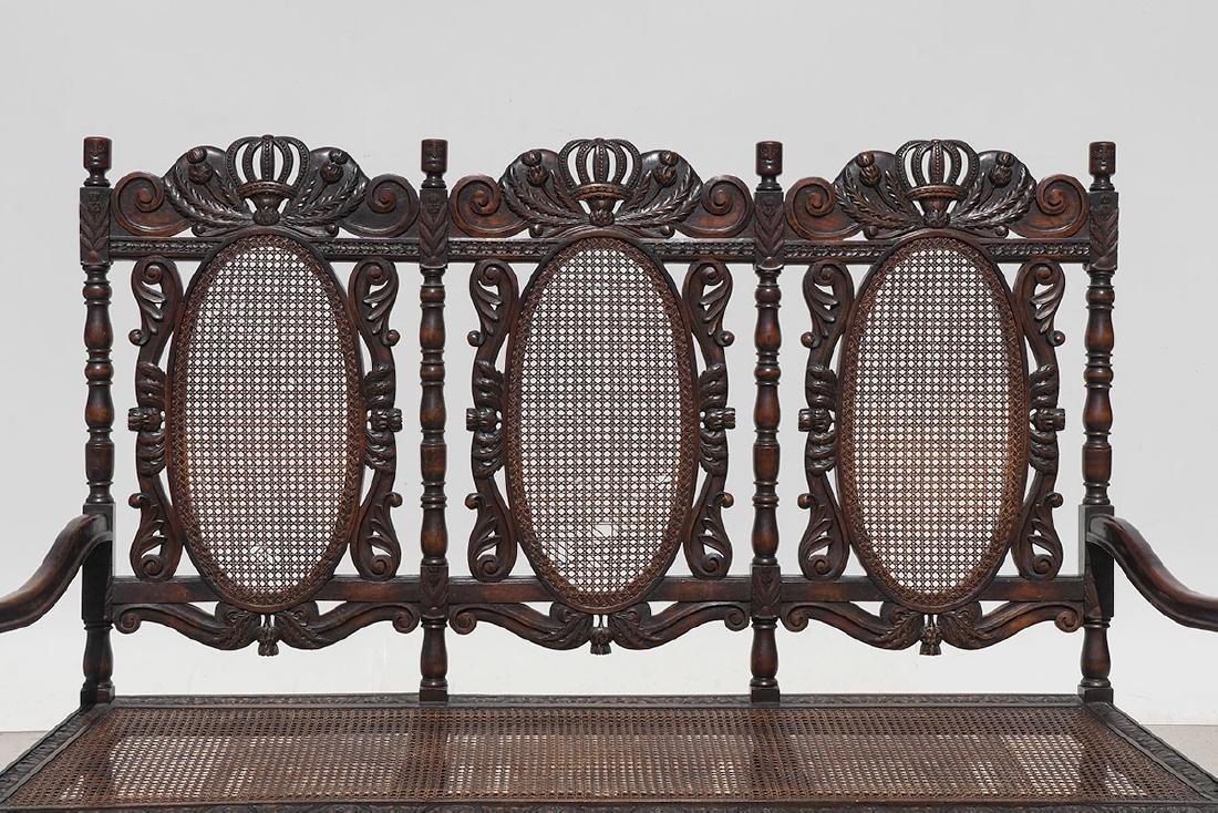 19TH CENTURY SCOTTISH CARVED THISTLE DESIGN BENCH - 2
