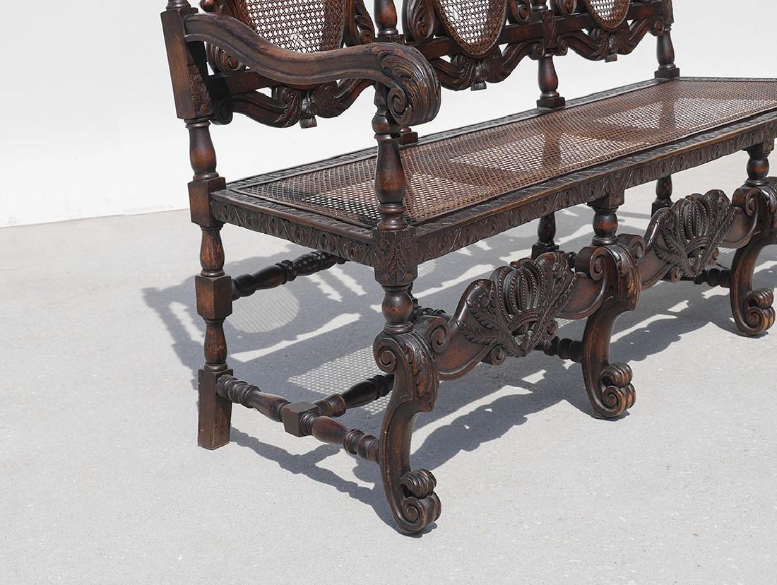 19TH CENTURY SCOTTISH CARVED THISTLE DESIGN BENCH - 3