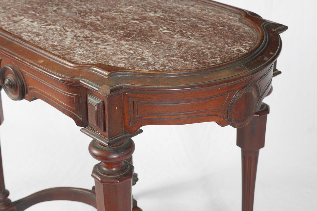 VICTORIAN MARBLE TOP PARLOR TABLE - 2
