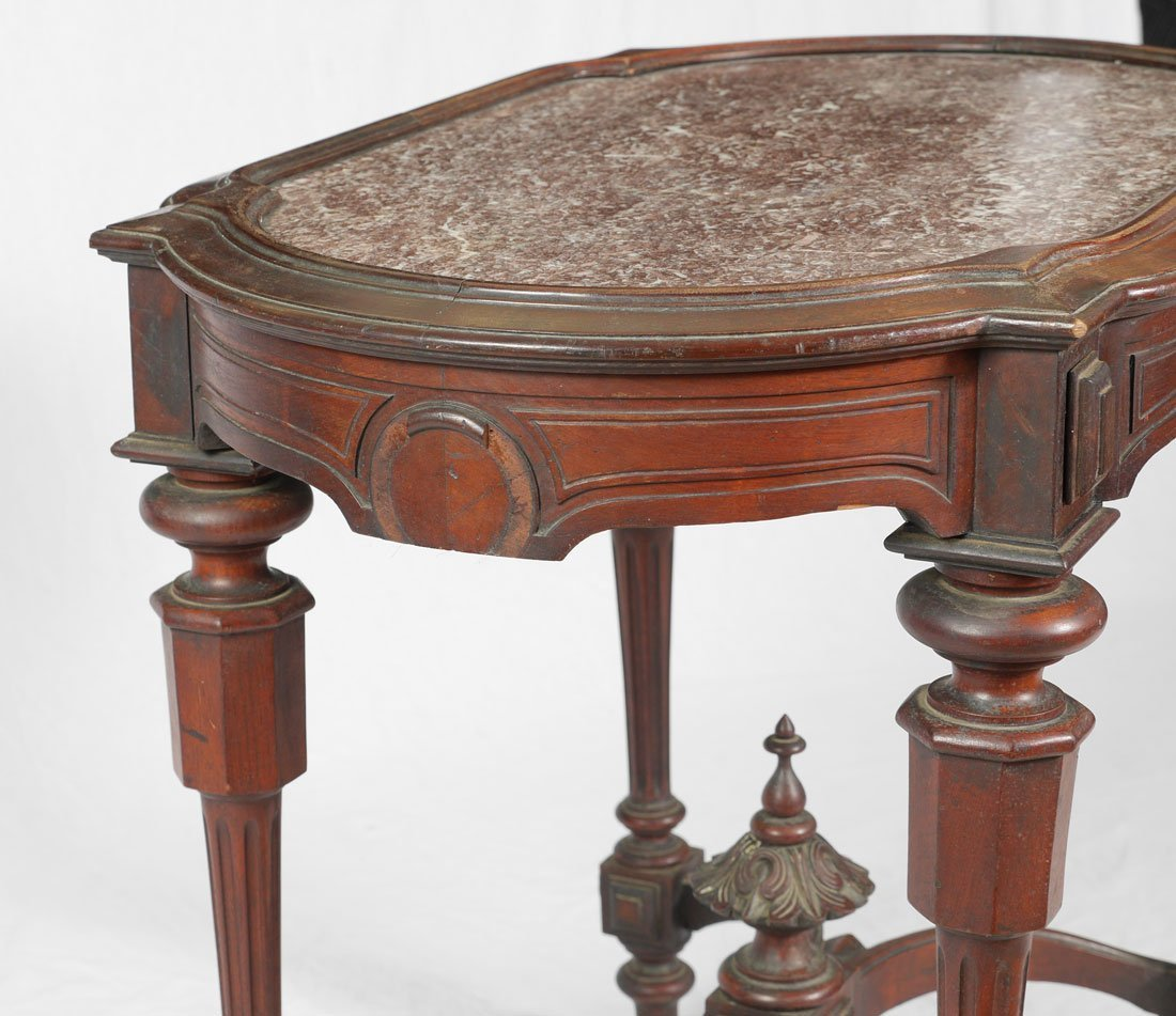 VICTORIAN MARBLE TOP PARLOR TABLE - 5