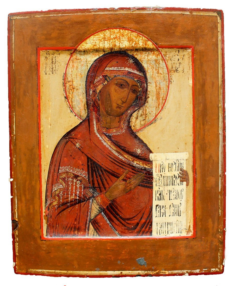 ICON PAINTING OF THE MADONNA