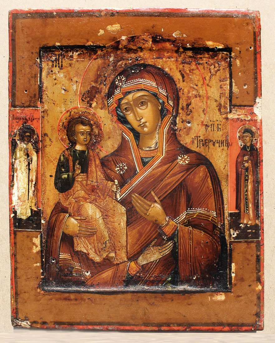 MADONNA AND CHILD ICON PAINTING