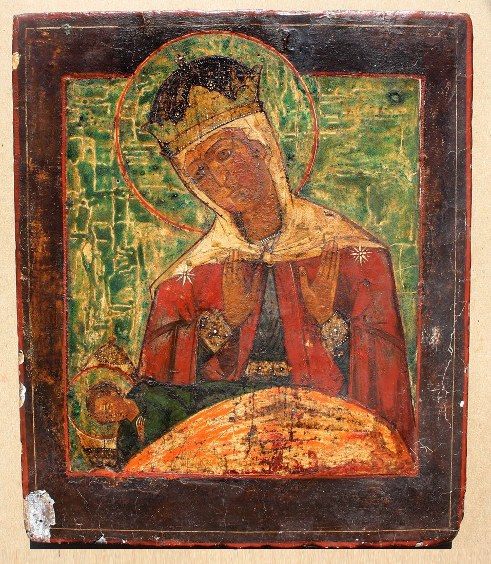 ICON PAINTING CHILD AND MADONNA