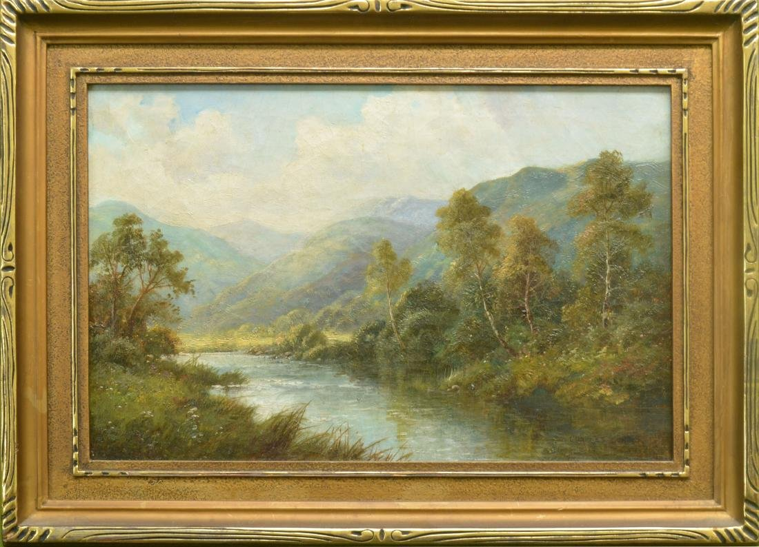 GOOD HIGHLAND RIVER LANDSCAPE PAINTING
