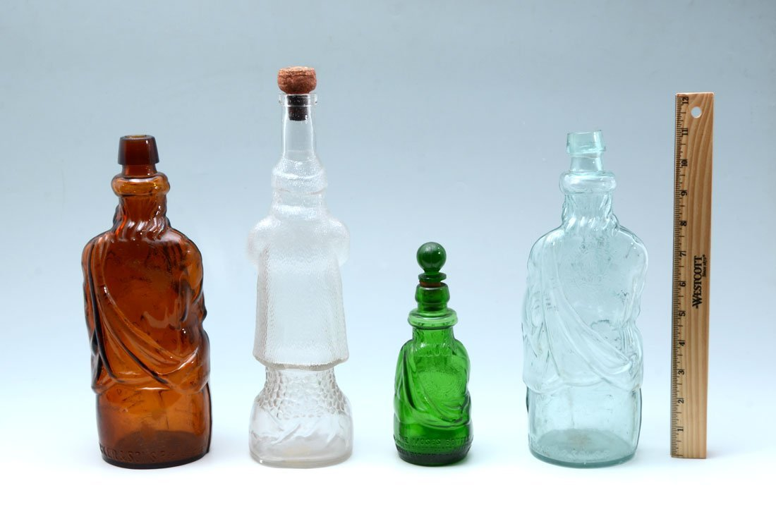 COLLECTION OF 4 ANTIQUE FATHER CHRISTMAS BOTTLES - 3