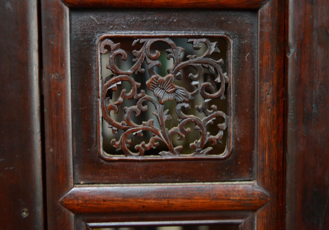 PROFUSELY CARVED CHINESE WEDDING BED - 5