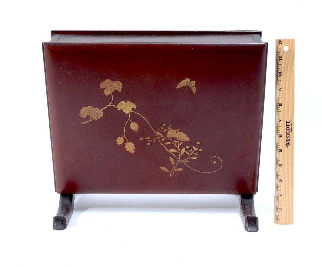 JAPANESE SHIBIYAMA LACQUER BOX - 3