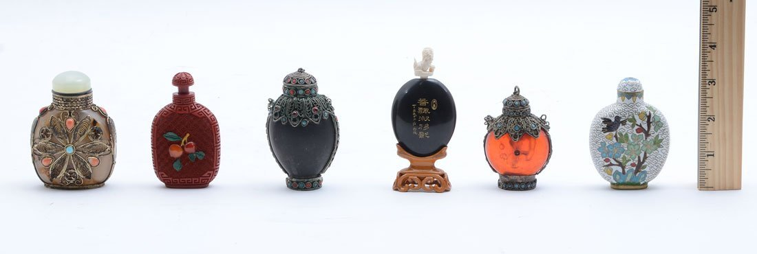 6 CHINESE SNUFF BOTTLES COLLECTION - 2