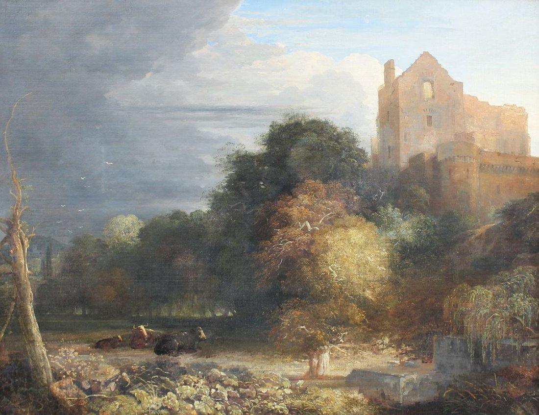 LARGE DUTCH SCHOOL PAINTING MANNER VAN RUISDAEL