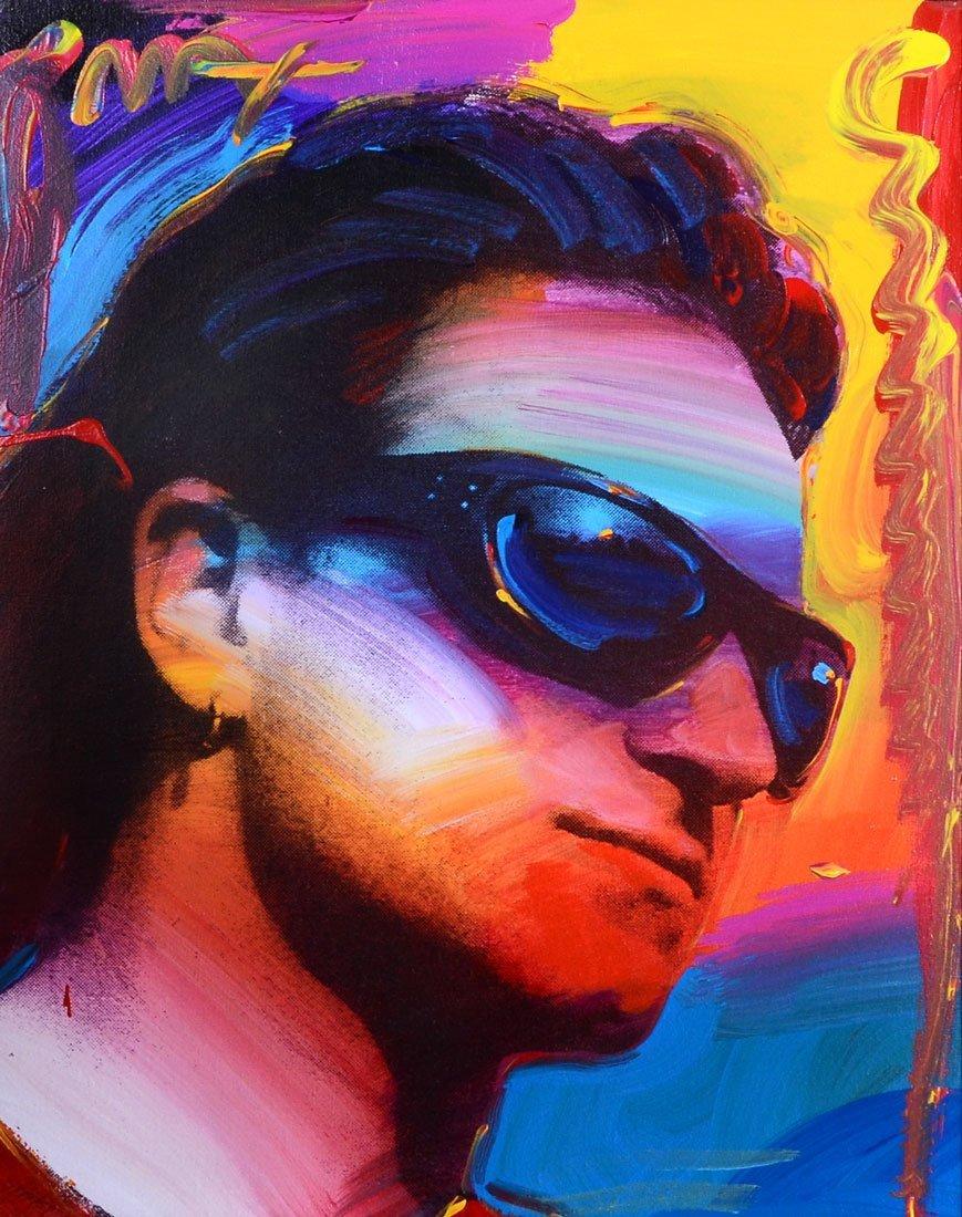 PETER MAX PORTRAIT OF BONO FROM U2