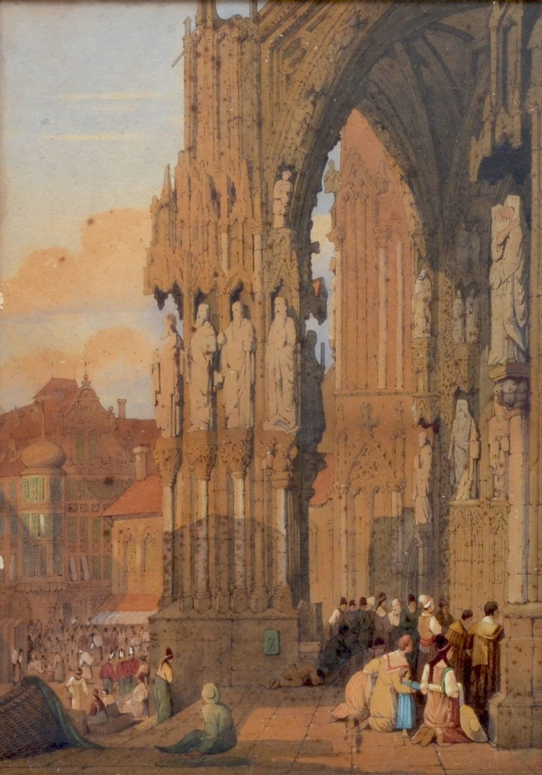 GEORGE ASHBURNHAM PAINTING REGIONS BURG CATHEDRAL
