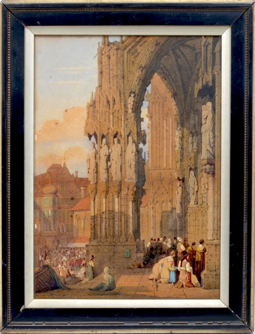 GEORGE ASHBURNHAM PAINTING REGIONS BURG CATHEDRAL - 2