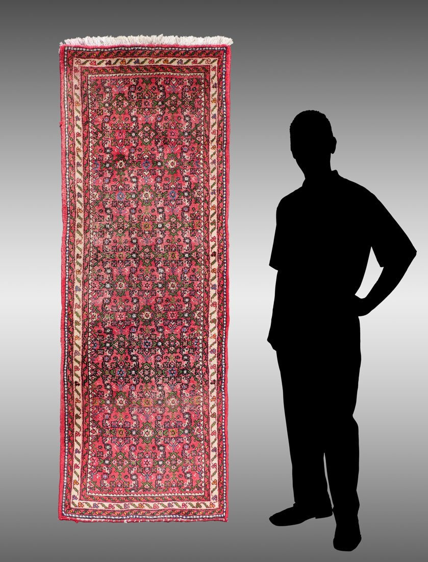 "PERSIAN DERGAZINE HK WOOL RUNNER, 2'5"" X 6'5"""