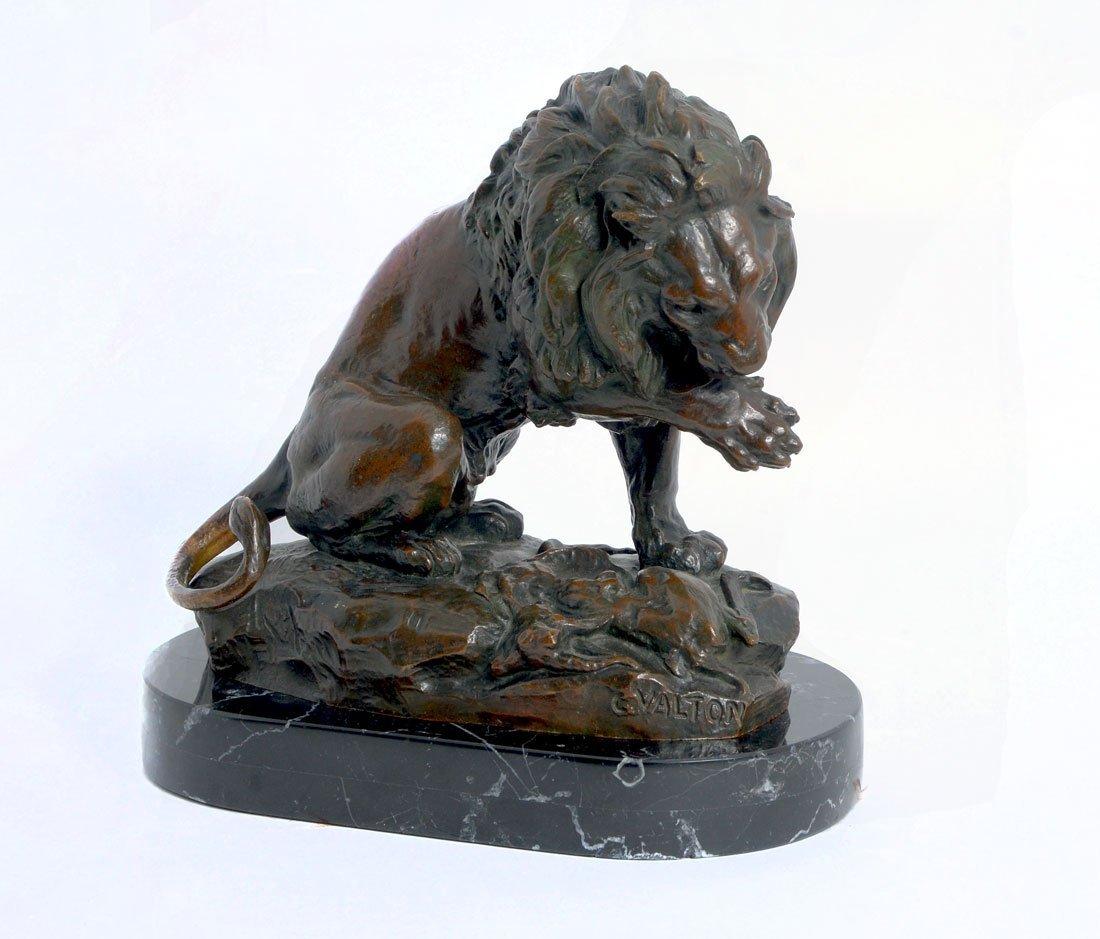 CHARLES VALTON LION BRONZE - 3
