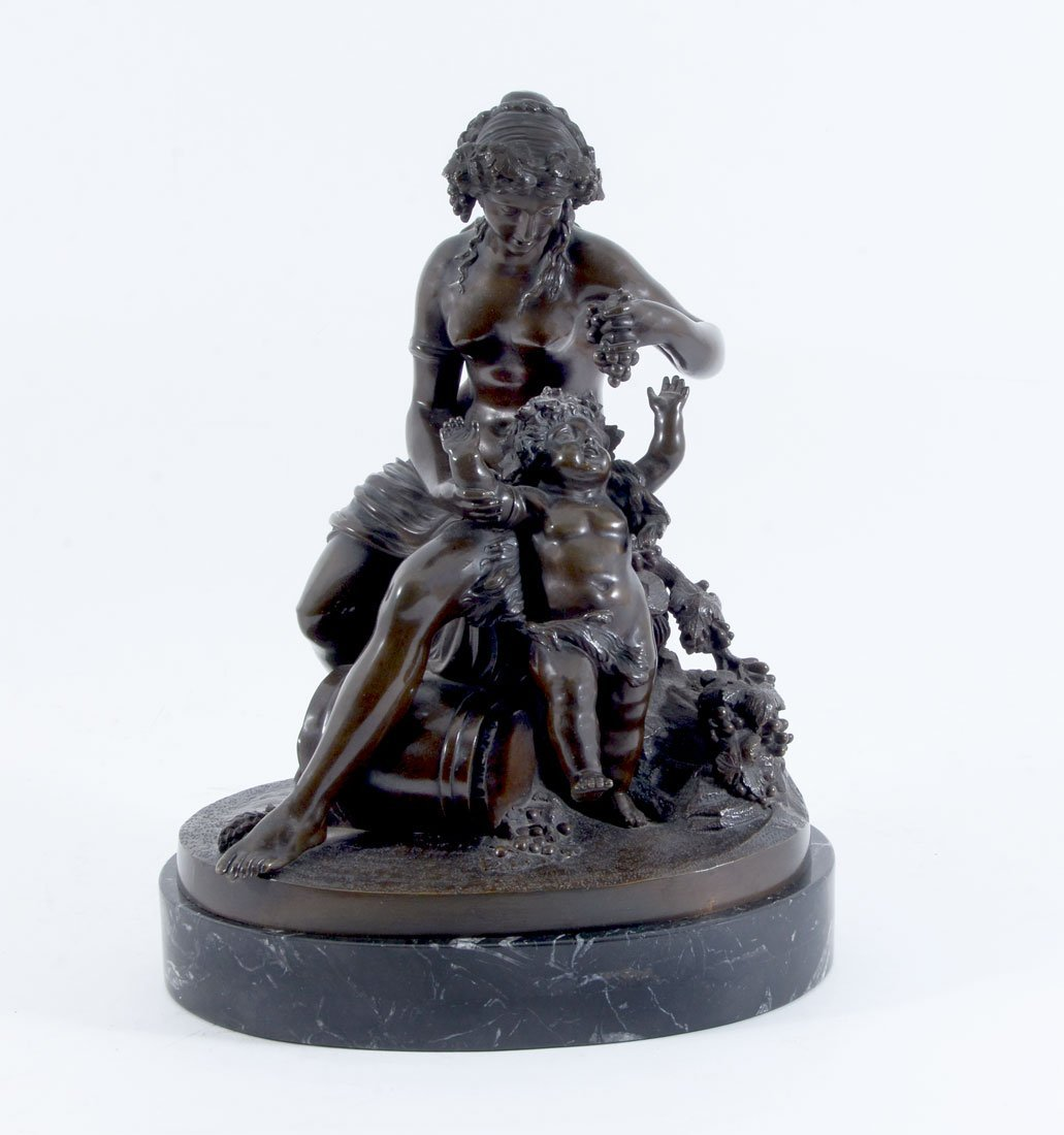 19TH CENTURY BACCHIC BRONZE GROUPING