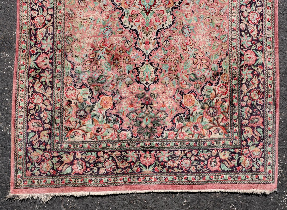 "PERSIAN NAIN QUALITY SILK RUG, 3'5"" X 5' - 2"
