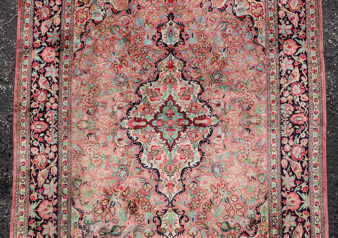 "PERSIAN NAIN QUALITY SILK RUG, 3'5"" X 5' - 3"