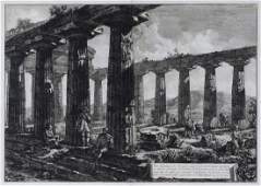 PIRANESI ENGRAVING TEMPLE RUINS