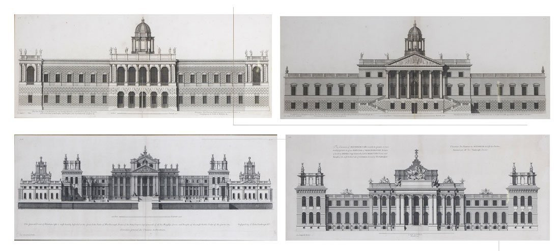 4 ETCHINGS? BY COLIN CAMPBELL PALACE FRONTICES?