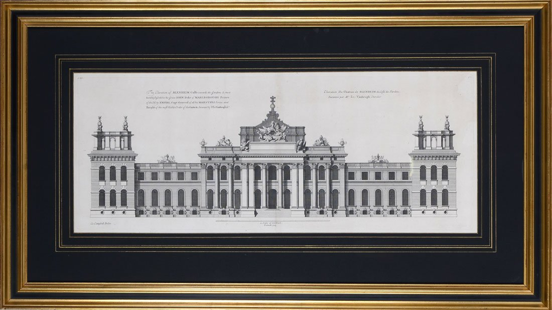 4 ETCHINGS? BY COLIN CAMPBELL PALACE FRONTICES? - 4