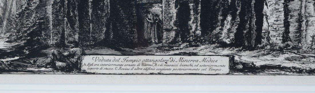 PIRANESI TEMPLE OF MINERVA MEDICA ENGRAVING - 3
