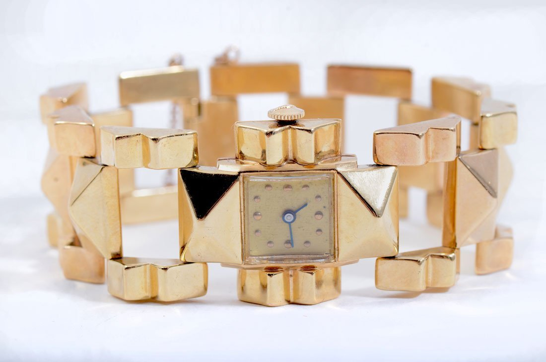 VINTAGE PERY SWISS 14K GOLD WATCH