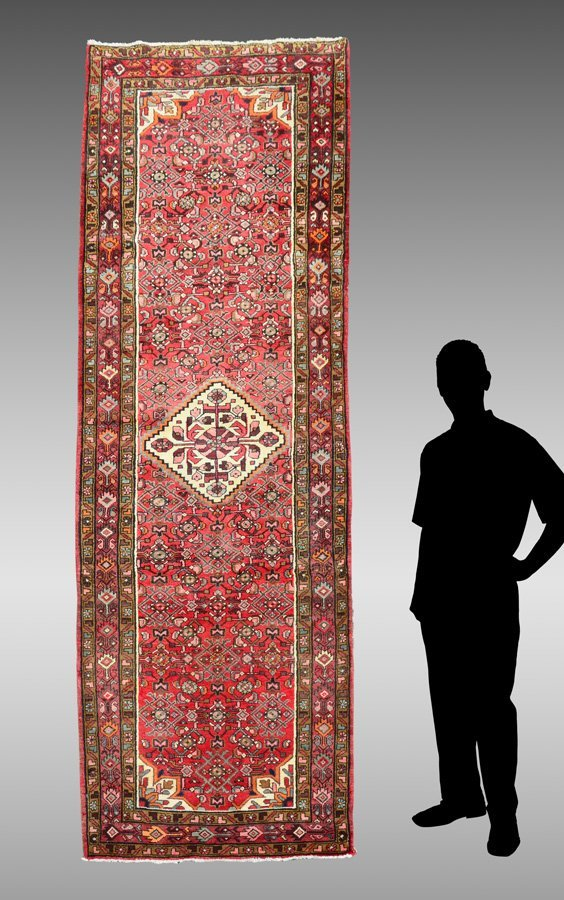 "PERSIAN DERGAZINE HK WOOL RUNNER, 3'8"" X 9'11"""