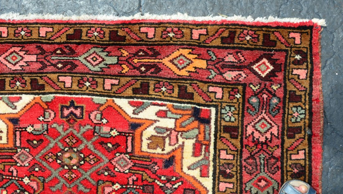 "PERSIAN DERGAZINE HK WOOL RUNNER, 3'8"" X 9'11"" - 3"