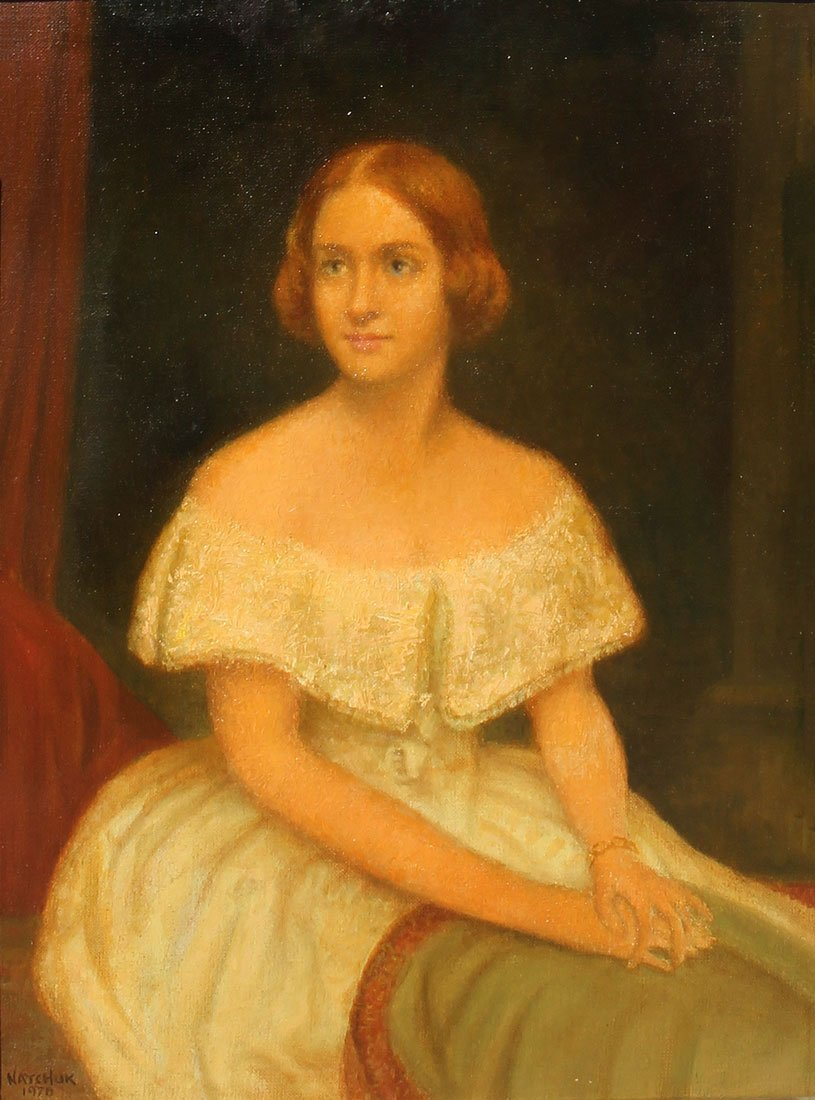 JOHN NATCHUK PORTRAIT PAINTING OF A YOUNG REDHEAD