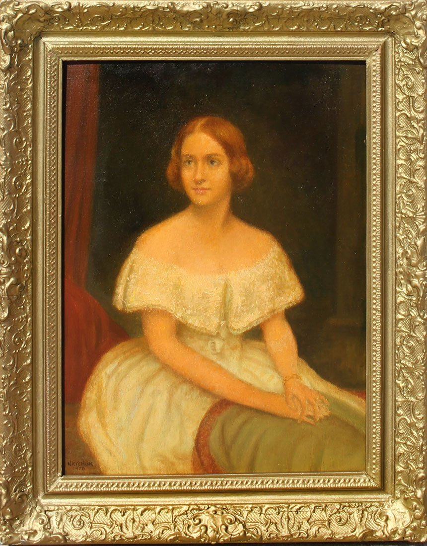 JOHN NATCHUK PORTRAIT PAINTING OF A YOUNG REDHEAD - 2