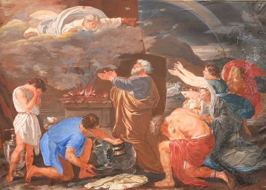 6:  18TH C.? SACRIFICE OF NOAH PAINTING POUSSIN?