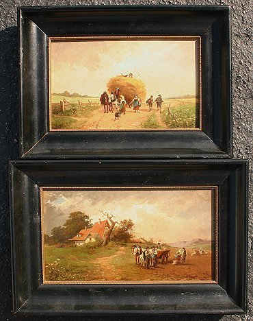 7: PAIR OF MAX KUGLMAYER LANDSCAPE PAINTINGS