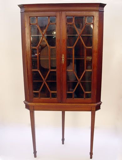14: 19th C   CORNER CUPBOARD ON STAND