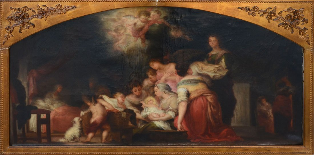 "PAINTING AFTER MURILLO ""BIRTH OF THE VIRGIN"""