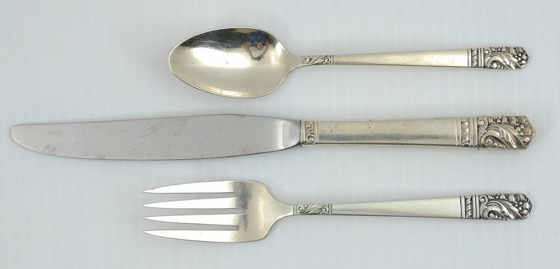 HEIRLOOM MANSION HOUSE STERLING FLATWARE