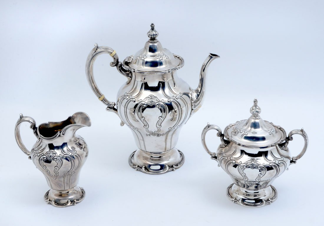 GORHAM CHANTILLY DUCHESS STERLING COFFEE SET