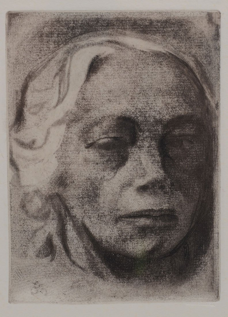 KATHE KOLLWITZ ''SELF PORTRAIT 1912'' ETCHING