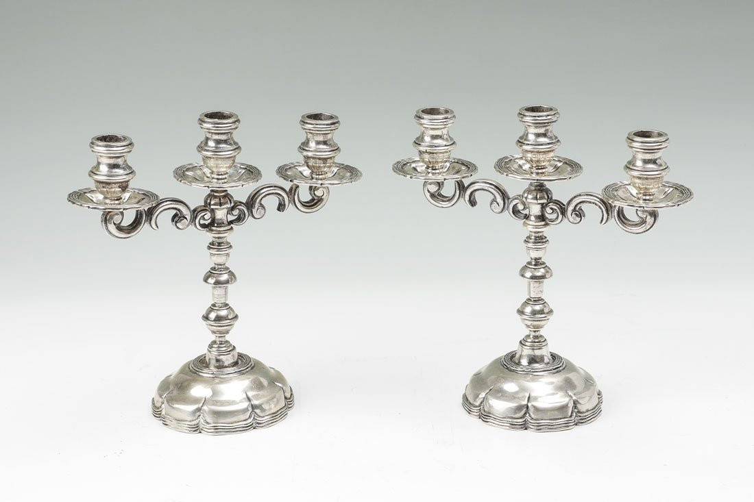 PAIR SANBORNS HEAVY MEXICAN STERLING CANDELSTICKS