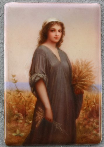 12: KPM QUALITY PAINTING ON PORCELAIN OF RUTH