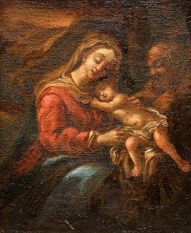 18: 17 CENTURY N ITALIAN OLD MASTER MADONNA AND CHILD