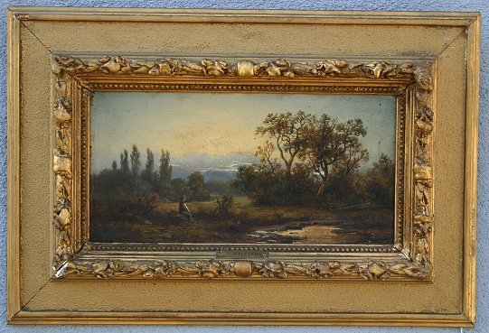 23: 19TH C EUROPEAN LANDSCAPE PAINTING SIGNED TICCINO